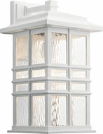 Kichler 49831WH Beacon Square White Exterior 9.5 Wall Sconce Light