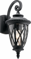 Kichler 49848BKT Admirals Cove Traditional Textured Black Outdoor 10.25  Wall Light Fixture