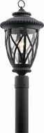 Kichler 49849BKT Admirals Cove Traditional Textured Black Exterior Pole Lighting Fixture