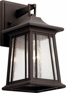Kichler 49908RZ Taden Traditional Rubbed Bronze Exterior Lighting Sconce
