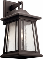 Kichler 49910RZ Taden Traditional Rubbed Bronze Exterior Wall Sconce Lighting