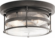 Kichler 49965AVI Mill Lane Contemporary Anvil Iron Exterior Ceiling Light