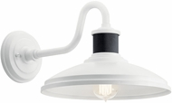 Kichler 49980WH Allenbury Contemporary White Exterior 12 Wall Sconce Lighting