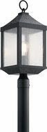 Kichler 49987DBK Springfield Distressed Black Outdoor Lamp Post Light