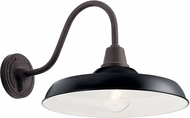 Kichler 49991BK Pier Contemporary Black Outdoor 16.5 Wall Mounted Lamp