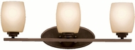 Kichler 5098OZL16 Eileen Contemporary Olde Bronze LED 3-Light Bathroom Sconce