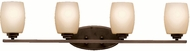 Kichler 5099OZL16 Eileen Contemporary Olde Bronze LED 4-Light Bath Wall Sconce