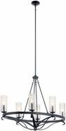 Kichler 52010BK Krysia Contemporary Black Hanging Chandelier