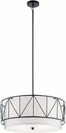 Kichler 52072BK Birkleigh Black Drum Drop Ceiling Light Fixture