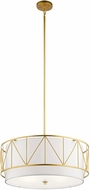 Kichler 52072CLG Birkleigh Classic Gold Drum Drop Lighting Fixture