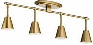Kichler 52129BNB Sylvia Modern Brushed Natural Brass Halogen 4-Light Track Light