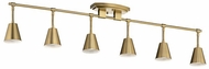 Kichler 52130BNB Sylvia Modern Brushed Natural Brass Halogen 6-Light Track Lighting Kit
