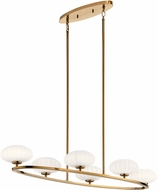 Kichler 52224FXG Pim Contemporary Fox Gold Halogen Kitchen Island Light Fixture