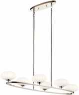 Kichler 52224PN Pim Modern Polished Nickel Halogen Island Lighting