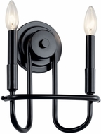 Kichler 52308BK Capitol Hill Contemporary Black Wall Lighting Sconce