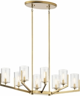 Kichler 52315BNB Nye Contemporary Brushed Natural Brass Kitchen Island Light