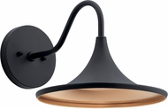 Kichler 59028BKTLED Elias Contemporary Textured Black LED Exterior 11 Wall Light Sconce