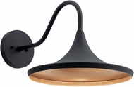 Kichler 59029BKTLED Elias Contemporary Textured Black LED Outdoor 14 Wall Lighting Fixture