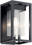 Kichler 59060BSL Mercer Modern Black with Silver Highlights Outdoor 12 Wall Lighting Fixture