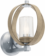 Kichler 59066DAG Grand Bank Contemporary Distressed Antique Gray Exterior 13 Wall Sconce