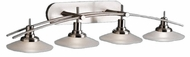 Kichler 6464-NI Structures Contemporary 4-Lamp Halogen Vanity Light in Brushed Nickel