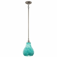 Kichler 65408 Crystal Ball Contemporary Brushed Nickel Finish 12.75  Tall Mini Hanging Pendant Lighting