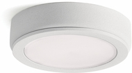 Kichler 6D24V30WHT 6D Series Modern Textured White LED 3000K Under Cabinet Puck Light