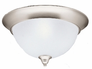 Kichler 8065NI Dover 3 Light 15.5 Inch Flushmount Ceiling Fixture