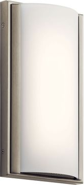 Kichler 83816 Bretto Contemporary Brushed Nickel LED Wall Mounted Lamp