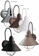 Kichler 9023 Seaside Outdoor Wall Mounted 14 Inch Tall Nautical Sconce Lighting