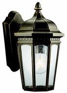 Kichler 9032RZ Courtyard Rubbed Bronze Traditional Small 11 Inch Tall Outdoor Lantern Wall Sconce