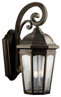 Kichler 9035RZ Courtyard Classic Lantern Extra Large 26 Inch Tall Exterior Sconce - Bronze