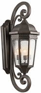 Kichler 9060RZ Courtyard Rubbed Bronze Exterior Wall Mounted Lamp