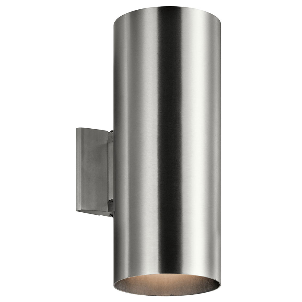 Kichler 9246BA Contemporary Brushed Aluminum Outdoor Lighting Sconce. Loading zoom  sc 1 st  Affordable L&s & Kichler 9246BA Contemporary Brushed Aluminum Outdoor Lighting Sconce ...