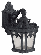 Kichler 9355BKT Tournai Textured Black 10 Inch Tall Small Outdoor Sconce Lighting
