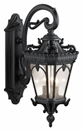 Kichler 9358BKT Tournai Extra Large Textured Black 3 Lamp Outdoor Wall Sconce