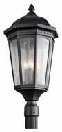 Kichler 9533BKT Courtyard Large Traditional Textured Black Outdoor Post Lamp - 27 Inches Tall