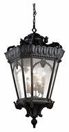 Kichler 9568BKT Tournai Large 8 Lamp Textured Black 47 Inch Tall Exterior Lighting Pendant