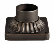 Kichler 9592RZ Traditional Rubbed Bronze Exterior Post Mount