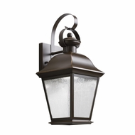 Kichler 9708OZLED Mount Vernon Traditional Olde Bronze Finish 16.75 Tall LED Outdoor Wall Sconce Lighting