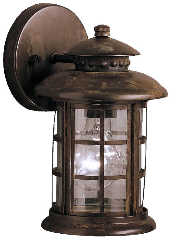 Kichler 9759rst Rustic 10 Inch Fluorescent Outdoor Wall Lantern Loading Zoom