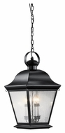 Kichler 9804BK Mount Vernon Large 13 Inch Wide Black Outdoor Drop Lighting