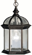 Kichler 9835BKL16 Barrie Traditional Black LED Exterior Hanging Light Fixture