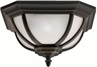 Kichler 9848RZ Salisbury Rubbed Bronze Outdoor Ceiling Light Fixture
