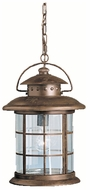 Kichler 9870RST Rustic Nautical 17 Inch Tall Outdoor Hanging Light