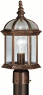 Kichler 9935TZL16 Barrie Traditional Tannery Bronze LED Outdoor Post Lamp