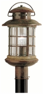 Kichler 9962RST Rustic Exterior 18 Inch Tall Nautical Lamp Post Lantern