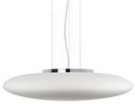 Kuzco 401186CH-LED Modern Chrome LED 19  Hanging Pendant Light