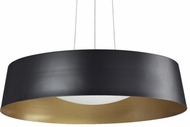 Kuzco 401207BK-LED Contemporary Black LED Drum Drop Lighting