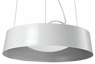 Kuzco 401207WH-LED Modern White LED Drum Drop Ceiling Lighting